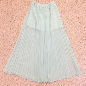 Sea foam blue maxi skirt